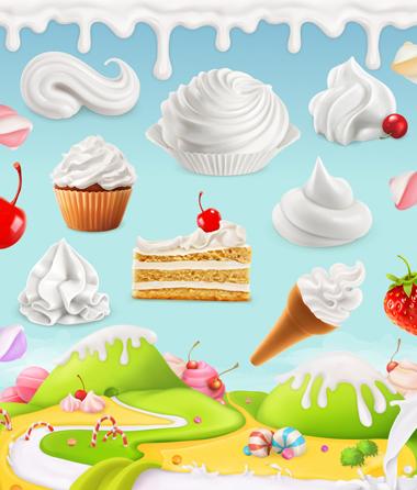 خامه زده شده / Whipped Cream