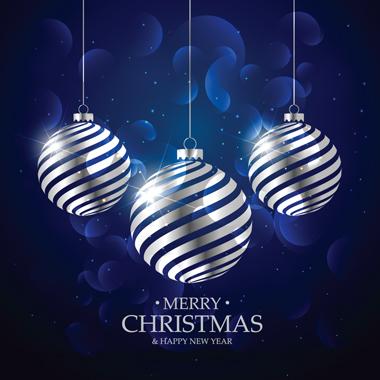 توپهای نقرهای کریسمس / Silver Christmas Balls