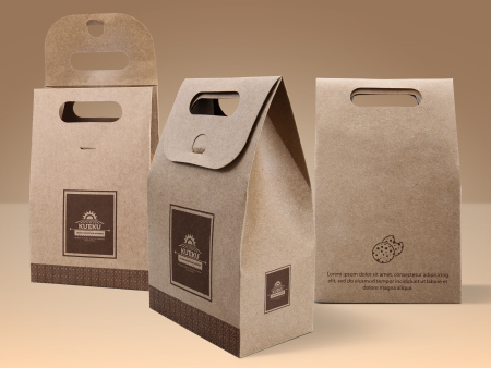 Cake And Cookie Kraft Paper Bag By Vectogravic Designs