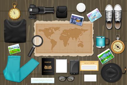 وسایل مورد نیاز برای سفر / Traveling Identity Branding