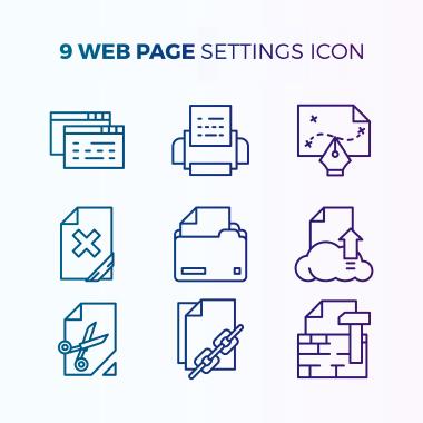 مجموعه آیکونهای تنظیمات وبسایت / Website Settings Icon Collection